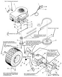 1690174 4108 8hp gear w 36 mower and 36 rotary mower engine drive group 4108 print diagram