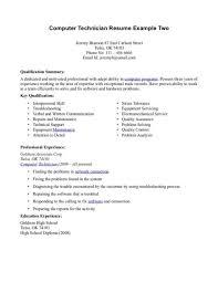 cover letter for laboratory technician computer technician sample resume