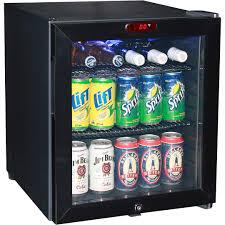 astounding blackmini glass door bar mini fridge with lock and led display plus internal fan fascinating stainless steel