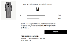 Zara Outerwear Size Chart Zara Sizes Sorted Thanks To Their New Online Shopping Tool