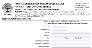 Looking for an online loan application form template? How To Complete The Pslf Form So You Qualify For Forgiveness Student Loan Hero