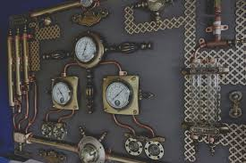 Abstract Industrial Art.Control Panel.Steampunk,Wall Art,Home Decor. 8
