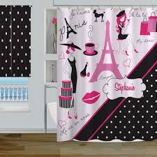 black and pink bathroom accessories. Black And Pink Bathroom Sets 1. Paris-Dots-Black Accessories