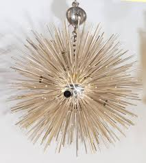 modern italian late 20th century silver sputnik chandelier for