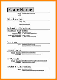 Resume Format Free Download In Ms Word 2007 Cv Format In Ms Word 100 Free Download C100ualwork100org 6