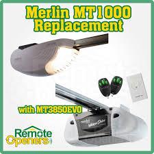 merlin mt1000 direct replacement with mt3850evo whisper drive sectional tilt garage door opener