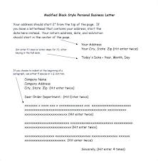 Personal Business Letter Block Style 7 Best Images On A Printable Sample Proper Business Letter Format