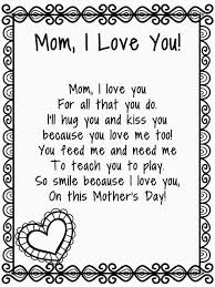 Small Picture Mothers Day Poems For Kids Es Coloring Pages