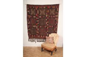 vintage moroccan algerian flat woven kilim wool rug wall hanging 180cm x 150cm photo 1