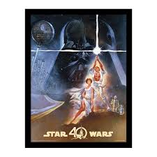 a new hope 40th anniversary star wars framed poster