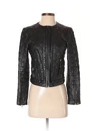 pin it zara basic women faux leather jacket size s