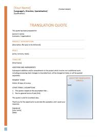 price quotation format doc template to write compelling translation quotes quote format templ