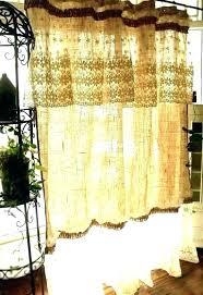 rustic shower curtains country chic burlap curtain farmhouse bear cabin horseshoe hooks
