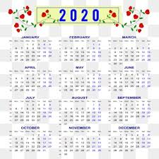 November 2020 Calendar Clip Art Calendar 2020 Love Rain Blue 2020 Calendar Calendar