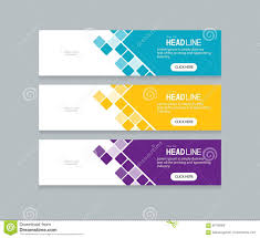 Creative Banner Design For Website Abstract Web Banner Design Template Background Stock Vector