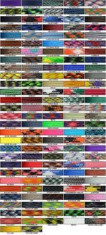 Paracord Color Chart Paracord Supplies Paracord Bracelets