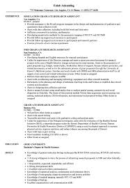 Research Assistant Resume Sample Graduate Research Assistant Resume Samples Velvet Jobs 12