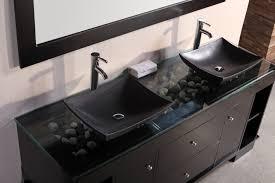 double sink bathroom vanity. vanities double sink bathroom. divine design ideas using rectangular black wooden vanity cabinets and silver single hole faucets also with bathroom u