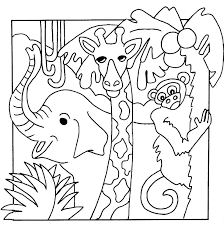 Animal Coloring For Kindergarten Coloring Pages For Kindergarten