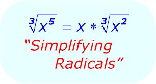 math simplifying radicals