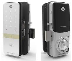 keypad yale digital door lock for glass doors