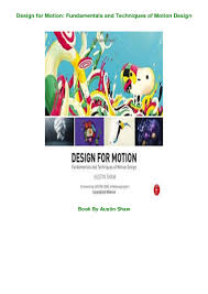 Design For Motion Motion Design Techniques And Fundamentals Download This Recomended Book Design For Motion