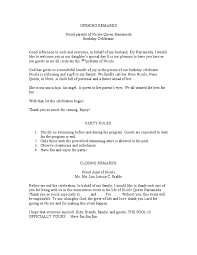 Sample Of 50th Birthday Party Program 50th Birthday Party Program Script 4 Happy Birthday World