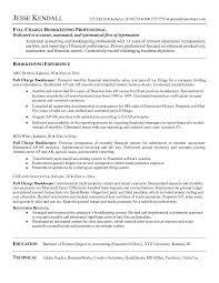 Bookkeeping Resume Samples Best Bookkeeping Resumes 48 Jreveal