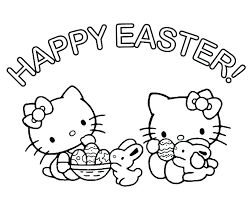 Happy Valentines Day Coloring Page Valentine Pages Free Hello Kitty