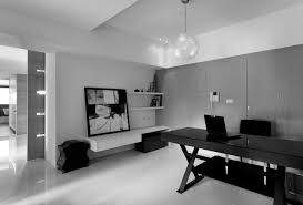 office black. Office Interior Furniture Home Charming Modern Excerpt Black And White L