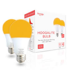 What Color Light Bulb Doesn T Attract Bugs Hoogalite Bug Light 7w Led Amber Blue Blocking Bulb 45w