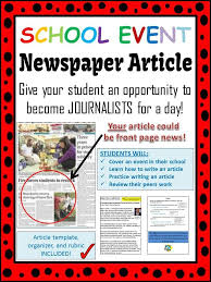 Newspaper Article Template Students School Event Newspaper Article Peer Review Template