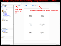 Print Name Trail Blazer How To Print Name Badges For Event Registrants Using