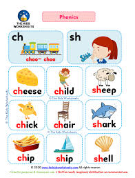 These free worksheets help your kids learn to define sounds from letters to make words. Phonics Poster Flashcards Ch Sh The Kids Worksheets