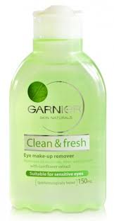 garnier clean fresh eye make up remover