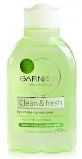 garnier clean fresh eye make up remover