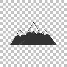 山サイン イラスト透明な背景に暗い灰色のアイコン ストック