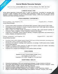 Sample Social Media Resume Media Coordinator Resume Social Media Resume Sample Social Media 59