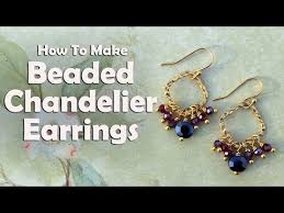 beaded chandelier earrings easy jewelry tutorial