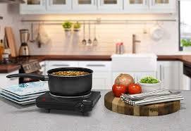 elite cuisine single electric flat cast iron heating plate burner