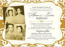 50th wedding anniversary invitation gold demask 50th anniversary