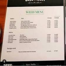 gray area amsterdam menu