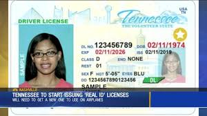 Tennessee Will Issuing Driver Licenses com Wsmv Video Begin Federally-compliant