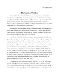 marielle the invisible children essay final copy mariellemanlulu 8 73 the invisible children all