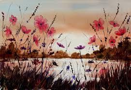 Risultati immagini per fiori e paesaggio