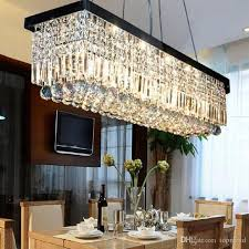 2017 hot crystal droplight modern contemporary rectangle rain drop crystal chandelier for dining room suspension lamp lighting fixture pendant lights
