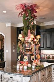 Kitchen Decorated for Christmas with Peppermint Candy, Gingerbread and  Baking Santas. Love the tree