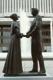 Joseph and Emma Smith Statue - Religious Education - Digital Collections