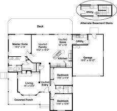 The Cambridge Contemporary House Plan    ALP  D   Chatham Design    Floor Plans for House Plan  ALP  D