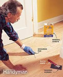photo 4 clean the floor using a wood flooring cleaner